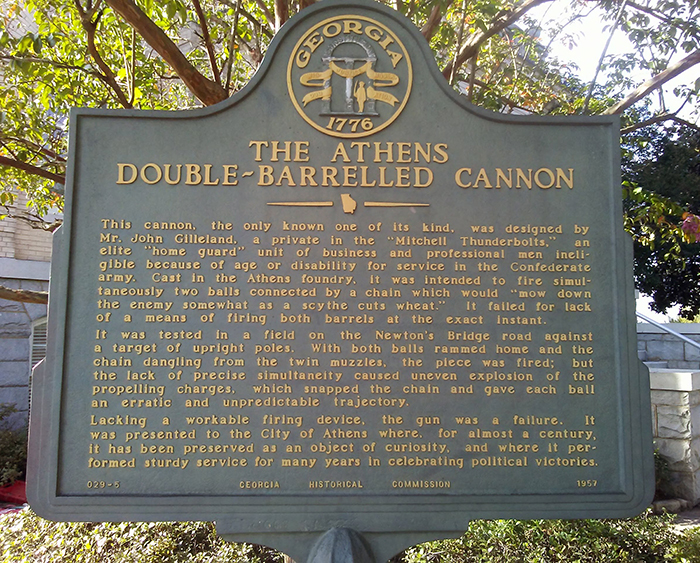 The Double-Barreled Cannon in Athens GA | Stories Secrets